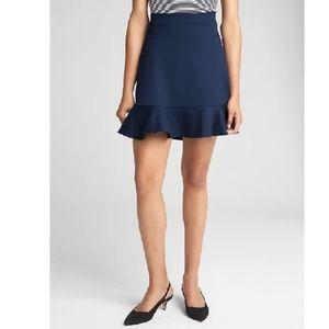 NWT Gap Ponte Flippy Skirt LP Blue v634